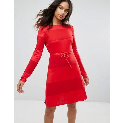 Hilfiger denim Tommy hilfiger x gigi hadid slash neck mini dress - red