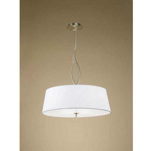 Lampa wisząca ninette 4l antyczny mosiądz - kremowy klosz, 1922 marki Mantra