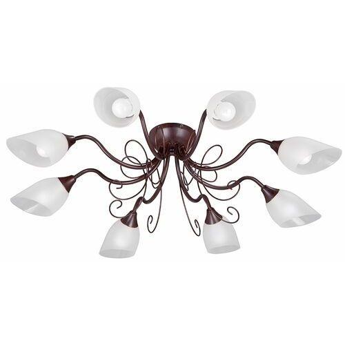 Vitaluce Lampa sufitowa 8-ramienna, brązowa, białe klosze (ve1472-7/8pl)