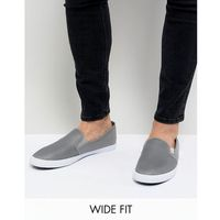 Original penguin wide fit mesh plimsolls in grey - grey