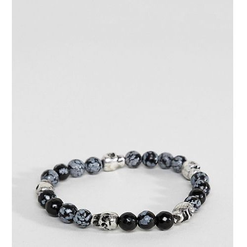 Reclaimed Vintage Inspired PLUS Black Beaded Bracelet With Skulls Exclusive To ASOS - Black