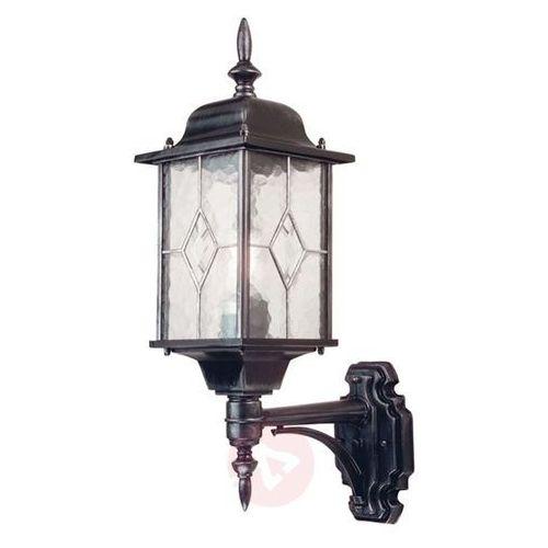 Zewnętrzna LAMPA elewacyjna WEXFORD WX1 Elstead klasyczna OPRAWA ścienna KINKIET ogrodowy IP43 latarenka outdoor srebrna, WX1