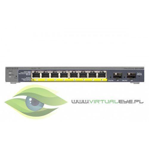 Switch Smart 8xGE 2xSFP (8xPoE) - GS110TP, 1_383773