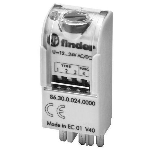 Moduł czasowy do przekaźnika 12-24V AC/DC, Funkcja AI, DI 86.30.0.024.0000, 86-30-0-024-0000