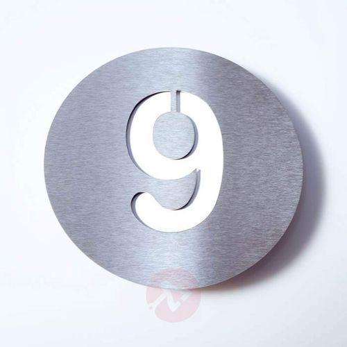 Tabliczka z numerem domu round, stal szl. – 9 marki Absolut/ radius