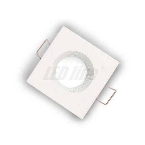 Oprawa halogenowa sufitowa kwadratowa stała, odlew stopu aluminium, mr11 - biała matowa marki Led line