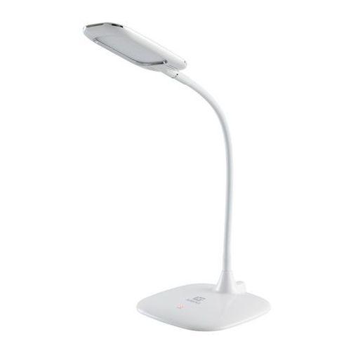Lampa na biurko biała led akumulatorowa, obracana 360 techno (631035401) marki Demarkt