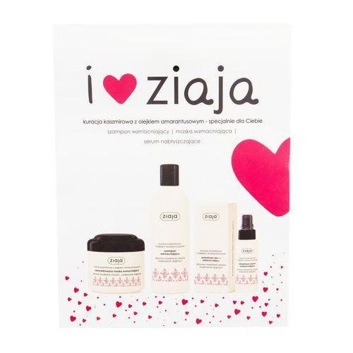 Ziaja cashmere zestaw 300 ml wzmacniający szampon 300 ml + wzmacniająca maska do włosów 200 ml + wzmacniające serum do włosów 50 ml dla kobiet (5901887043959)