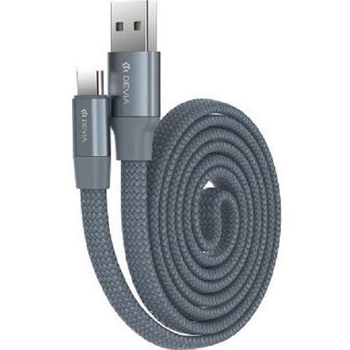 Kabel DEVIA Ring Y1 USB A - USB C Szary