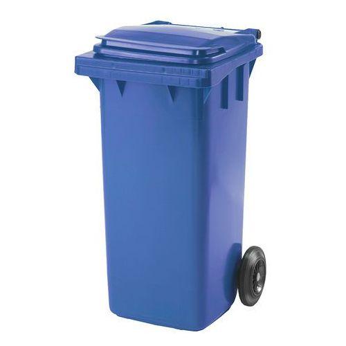 Kosz na śmieci HENRY, na kółkach, 930x480x555 mm, 120 L, niebieski, 229025