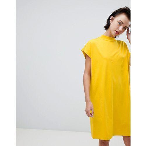 Weekday high neck dress in yellow - Yellow, w 3 rozmiarach