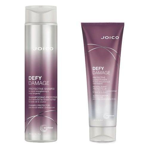 Joico defy damage | zestaw do włosów zniszczonych: szampon 300ml + odżywka 250ml