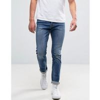 slim jeans in mid wash - blue, New look