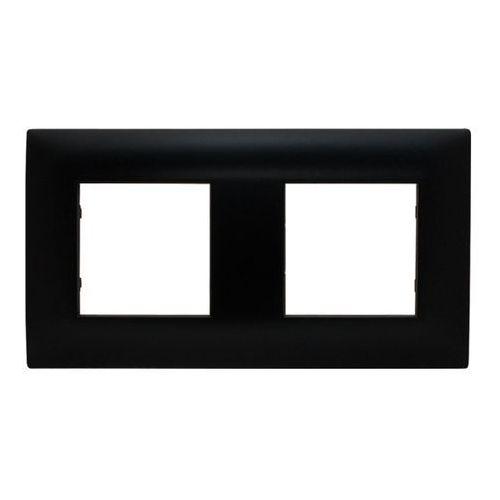 dante ramka 2x tworzywo lakierowane czarny 450982 marki Kos