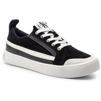 Sneakersy jeans - dino s0613 black/white/black, Calvin klein, 40-46