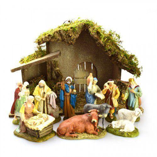 Duża szopka bożonarodzeniowa zestaw figurki 12 cm, 2412NACO