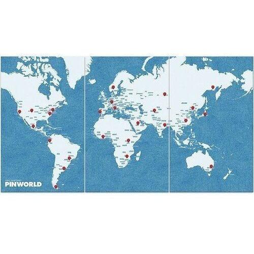 Dekoracja ścienna XL Pin World niebieska, pw_xl_blue
