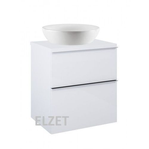 ELITA szafka Look 2S white pod umywalkę nablatową + blat 60 white 167077+166890