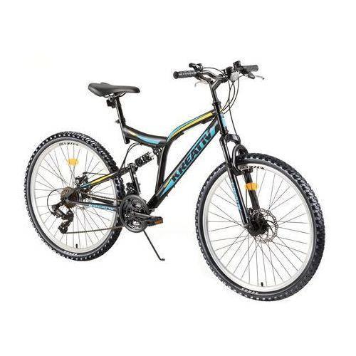 """Kreativ Rower z amortyzatorami 2643 26"""" - model 2018, czarny"""