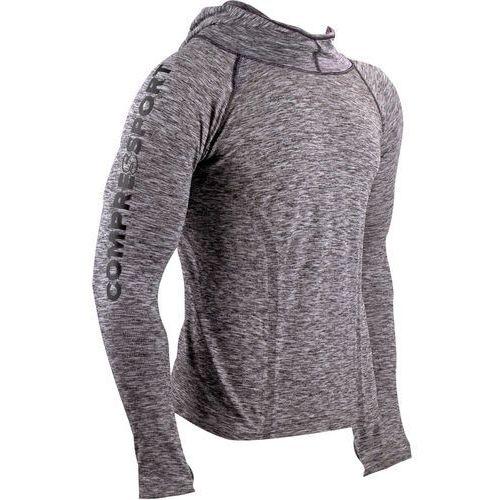 3d thermo seamless koszulka do biegania z długim rękawem szary m 2018 koszulki do biegania długi rękaw marki Compressport
