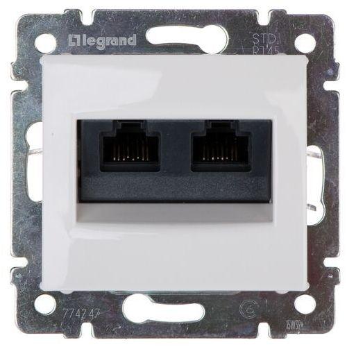 Gniazdo komputerowe Legrand Valena Life 774247 podwójne 2XRJ45 kategoria 6 UTP białe (3245067742471)