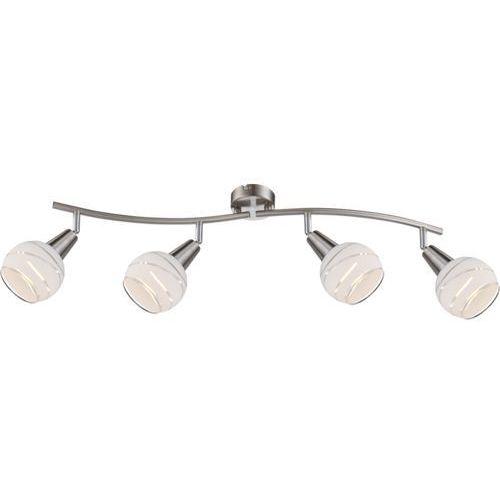 Globo Plafon lampa oprawa sufitowa elliott 4x4w e14 satyna/matowy chrom 54341-4 (9007371255320)