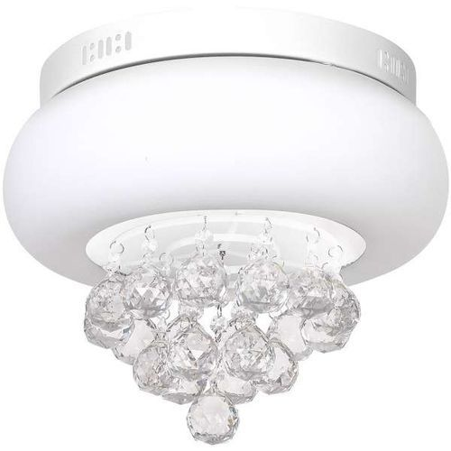 Plafon LAMPA sufitowa LUX 0863 Milagro kryształowa OPRAWA okrągła LED 18W crystal biała