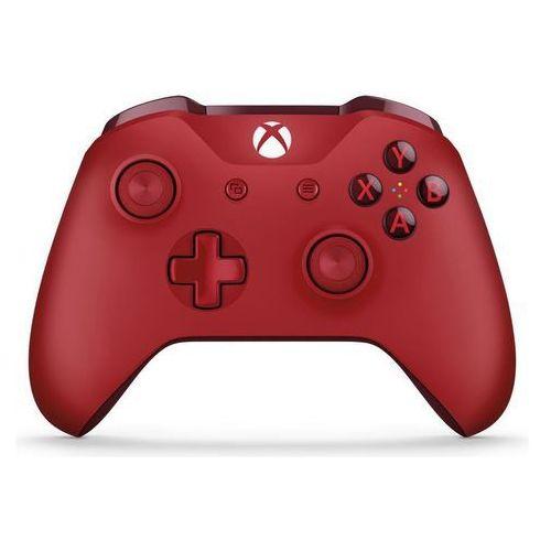 Kontroler xbox one czerwony + zamów z dostawą jutro! + darmowy transport! marki Microsoft