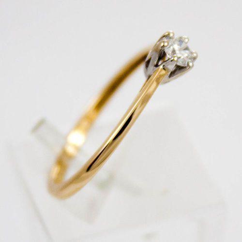 Złoty pierścionek z diamentem P1503, kolor żółty