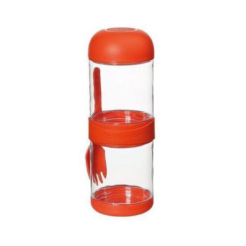 Cilio - To Go - pudełka na lunch z widelcem, pomarańczowe - pomarańczowy (4017166158045)