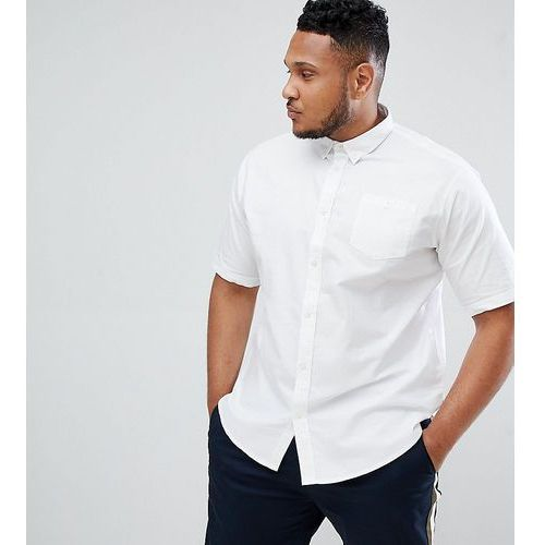 D-struct plus basic oxford short sleeve shirt - white