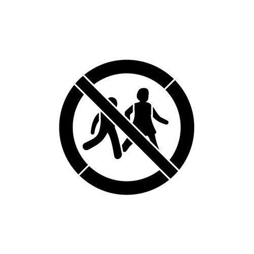 Szablon z tworzywa do malowania znak zakaz wstępu dzieciom gp036- 85x85 cm marki Szabloneria