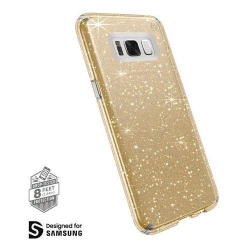 presidio clear with glitter etui obudowa samsung galaxy s8+ plus (gold glitter/clear) marki Speck