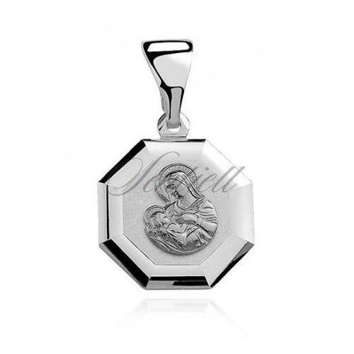 Sentiell Srebrny medalik matka boska karmiąca - md438