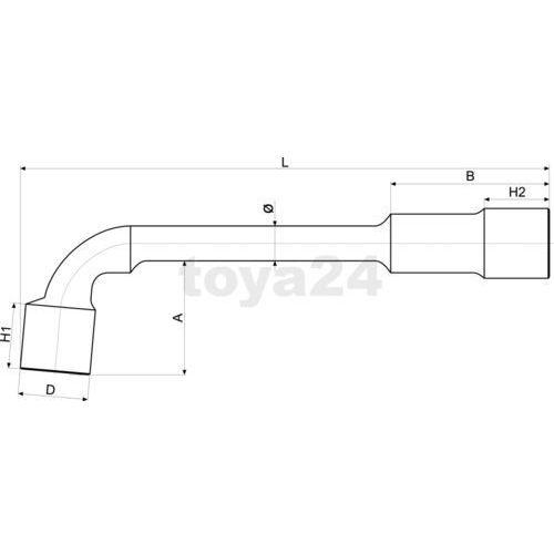 Yato Klucz fajkowy, nasadowy typu ''l'' 21 mm yt-1641 - zyskaj rabat 30 zł (5906083916410)