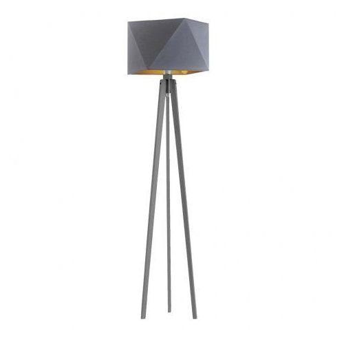 Drewniana lampa podłogowa BOMBAJ GOLD