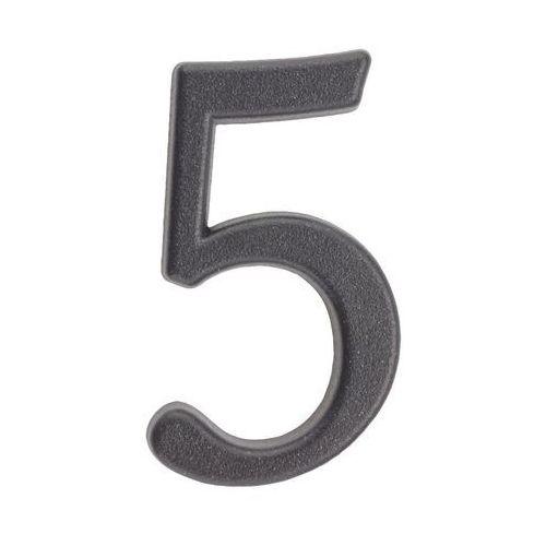 Cyfra 5 wys. 5 cm metalowa grafitowa