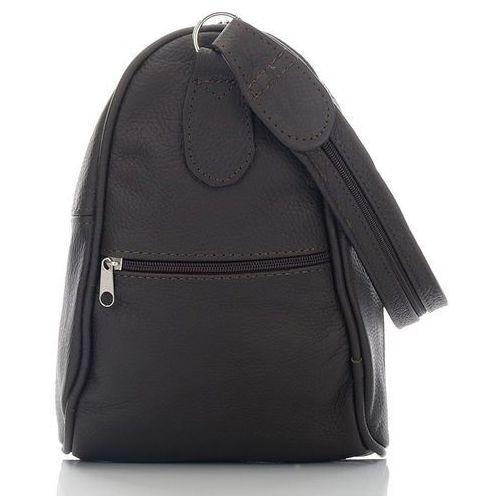 Skórzana torebka i plecak w jednym ciemna czekolada - brązowy