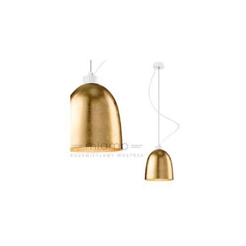 Sotto luce Lampa wisząca awa 1/s/gold/opal szklana oprawa zwis złoty
