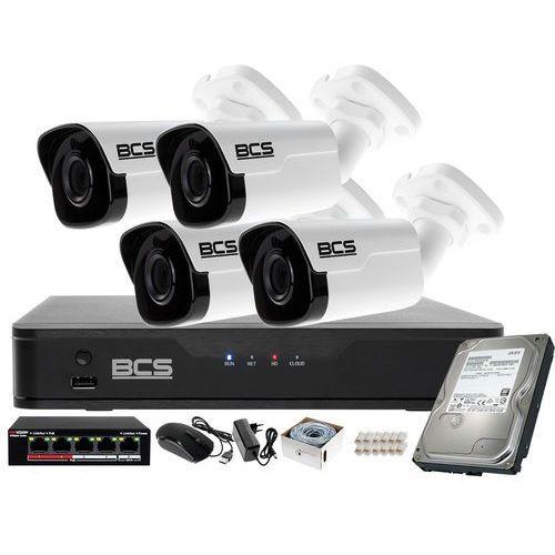 Bcs point Monitoring ip rejestrator z 4 kamerami fullhd + akcesoria