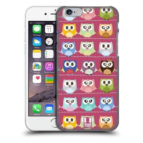 Etui plastikowe na telefon - Kawaii Owl PINK PATTERN