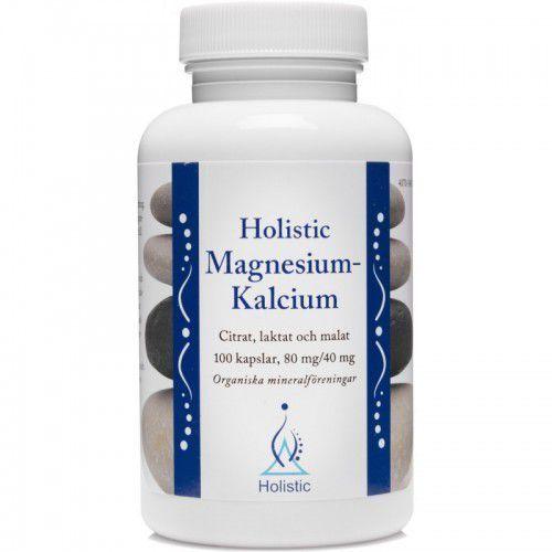 Holistic Magnesium-Kalcium magnez wapń 80mg/40mg 100 kaps. (7350012330637)