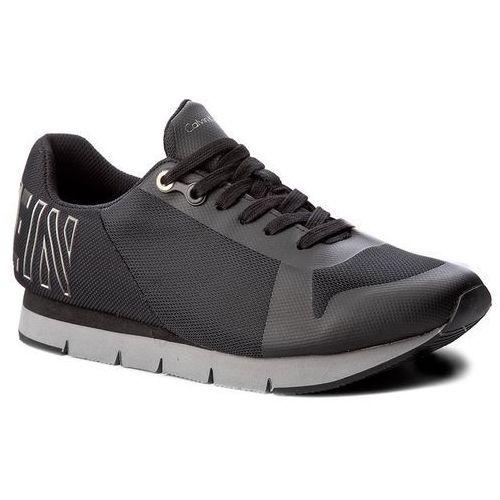 Calvin klein Sneakersy jeans - jabre s1658 black/pewter