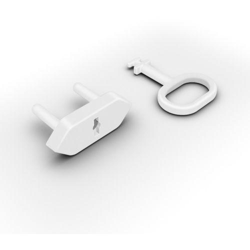 Reer Zabezpieczenia gniazdek zaślepki 8szt + klucz (4013283290200)