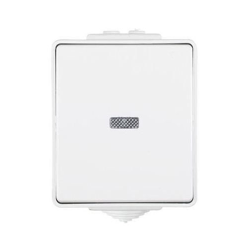 Efapel Przycisk pojedynczy z podświetleniem biały ip65 waterproof