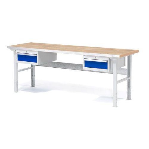 Aj produkty Stół warsztatowy z 2x 1szuflada z blatem o powierzchni dębowej obciążenie 750kg