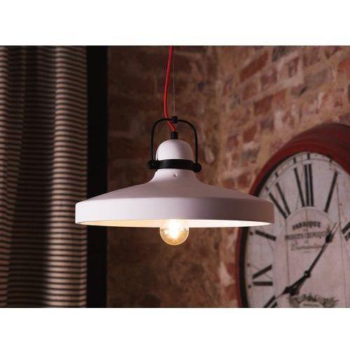 Lampa wisząca gipsowa biała NOATAK, kolor Biały,