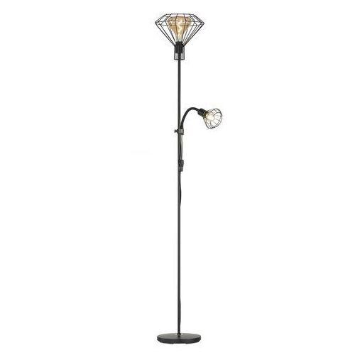 Honsel Lampa stojąca fischer & living stev czarny, 1-punktowy - vintage/przemysłowy - obszar wewnętrzny - stev - czas dostawy: od 3-6 dni roboczych (4001133402101)