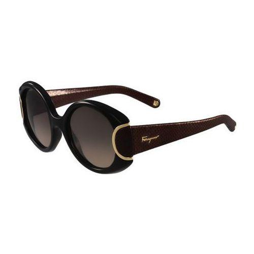 Okulary Słoneczne Salvatore Ferragamo SF 811SL 960, kolor żółty