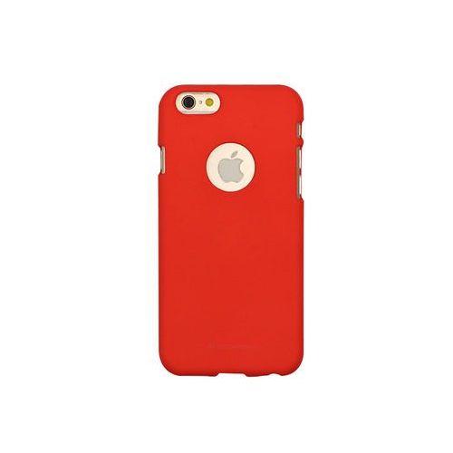 Apple iphone 6s - etui na telefon soft feeling - czerwony marki Mercury goospery